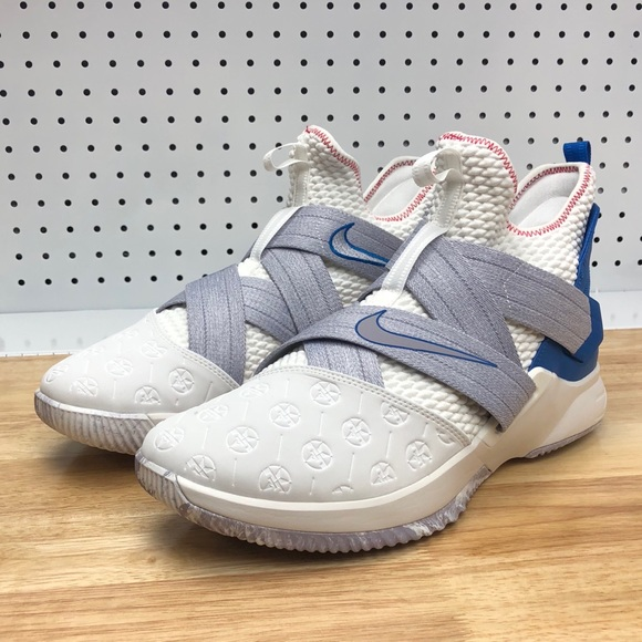 new arrivals 33589 adfd7 Nike Lebron Soldier XII Men's Basketball White 12 NWT